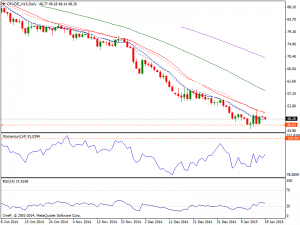 Daily WTI Chart 19th Jan 2015